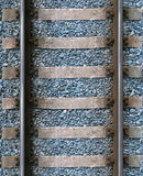 Railroad tracks. Upper view of railroad tracks. The tiles tie together without a visible transition Royalty Free Stock Photography