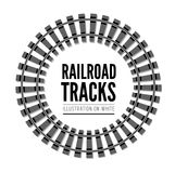 Railroad tracks vector llustration Stock Image
