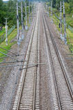 Railroad tracks view from above Royalty Free Stock Photography