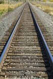 Railroad tracks west Royalty Free Stock Photography