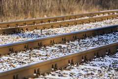 Railroad tracks in winter. Stock Photography