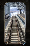 Railroad tracks in the winter Stock Image