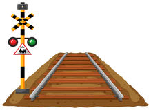 Railroad and traffic light for train. Illustration stock illustration