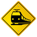 Railroad traffic road sign Stock Photography
