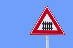 Railroad traffic sign Stock Image