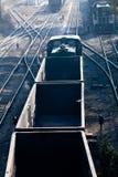 Railroad and train Royalty Free Stock Photo