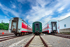 The railroad train dispatching station stops Stock Photography