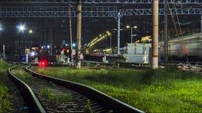 Railroad train fast motion stock video