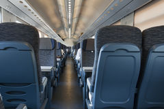 Railroad train interior Royalty Free Stock Images