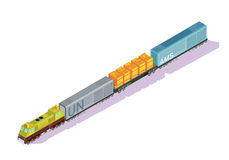 Railroad Train Isometric Composition Royalty Free Stock Photos