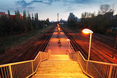 Railroad train platform - stair Royalty Free Stock Images