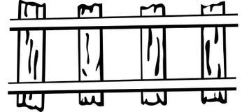 Railroad or train rails vector illustration. Vector illustration of a railroad or train rails Stock Photography