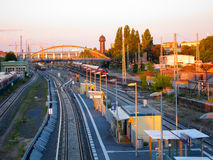 Railroad trains, Berlin Germany Stock Photo