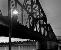 Free Railroad Trestle Bridge At Night Stock Photography - 8322852