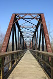 Railroad trestle converted to trail Royalty Free Stock Photography