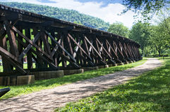 The Railroad trestle at Harpers Ferry in Virginia USA Stock Photo
