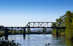Railroad trestle Royalty Free Stock Photo