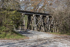 Railroad Trestle In The Ozone Falls State Area Stock Image