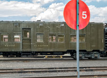 Railroad troop transport car Royalty Free Stock Photography
