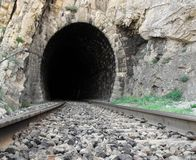 Railroad tunnel Stock Photos