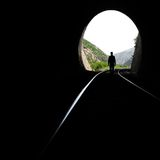 Railroad tunnel Royalty Free Stock Photos