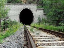 Railroad tunnel Stock Photo