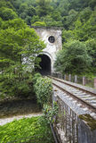 Railroad tunnel Psyrtsha station in New Athos Royalty Free Stock Photos