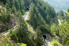 Railroad tunnels Royalty Free Stock Photo