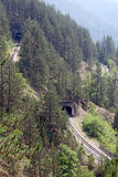 Railroad and tunnels Stock Image