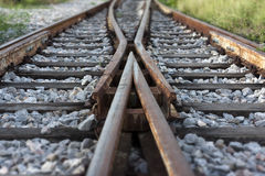 Railroad turnout Royalty Free Stock Image