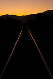 Railroad at twilight Stock Photography