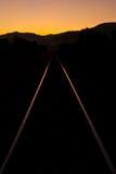 Railroad at twilight Stock Photography