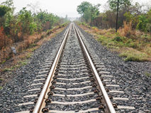 Railroad with vanishing point, parallel and infinity Stock Photography