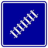 Railroad vector sign. Vector sign with a railroad symbol Royalty Free Stock Image