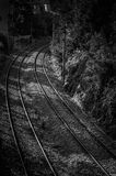Railroad View From A Bridge Over Royalty Free Stock Photo