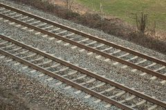 Railroad in Village stock photography