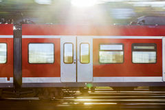 Railroad waggon in motion Royalty Free Stock Photography