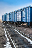 Railroad with wagons Royalty Free Stock Photography
