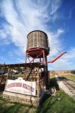 Railroad Water Station. Railroad water tower Fort Worth ,Texas stockyards Royalty Free Stock Photos