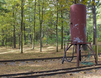 Railroad water tank Stock Photos