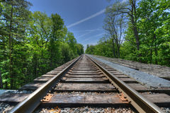 Railroad, Watkins Glen Bridge Stock Photos