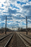 Railroad way Royalty Free Stock Photography