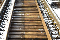 Railroad in winter Stock Photos