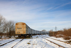 Railroad in the winter Stock Photography