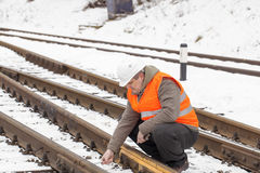 Railroad worker Stock Photography