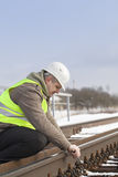 Railroad worker Stock Image