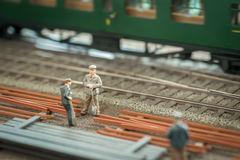 Railroad workers Royalty Free Stock Photo