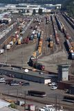 Railroad yard in Portland, Oregon Royalty Free Stock Photos