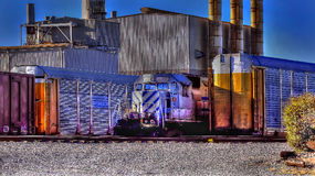 Railroad Yards And Factory Stock Image