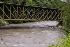 Railroadbridge nad rzeką w Austria Zdjęcie Royalty Free